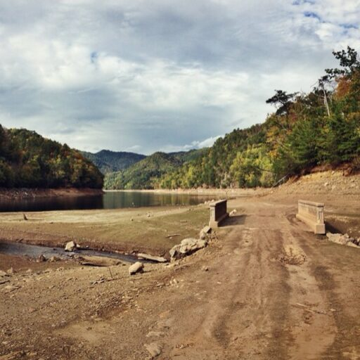 Fontana Lake Bed (and bridge) in Bryson City, NC (at the 288 boat ramp)