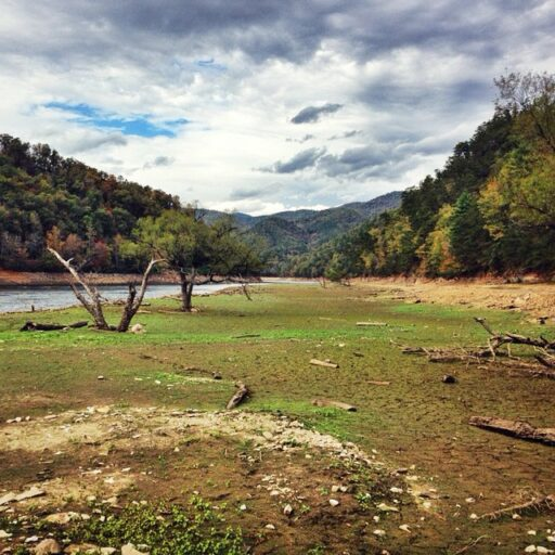 Fontana Lake Bed in Bryson City, NC (at the 288 boat ramp)