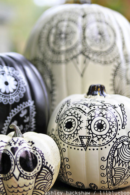 How to decorate a pumpkin without carving it ideas #diy #pumpkin
