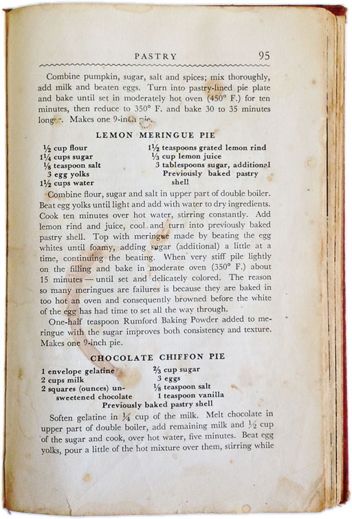 If a cookbook could tell a story - Vintage Rumford Cookbook