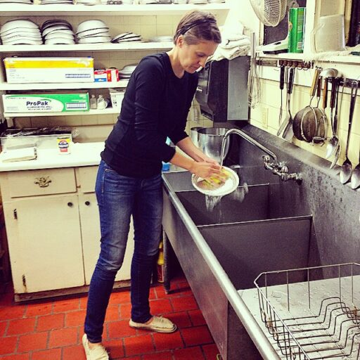 Washing Dishes at the inn