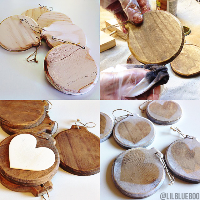 Easy christmas decoration ideas to make - These Little Trees Were Also Made Of Raw Wood After Staining Them I