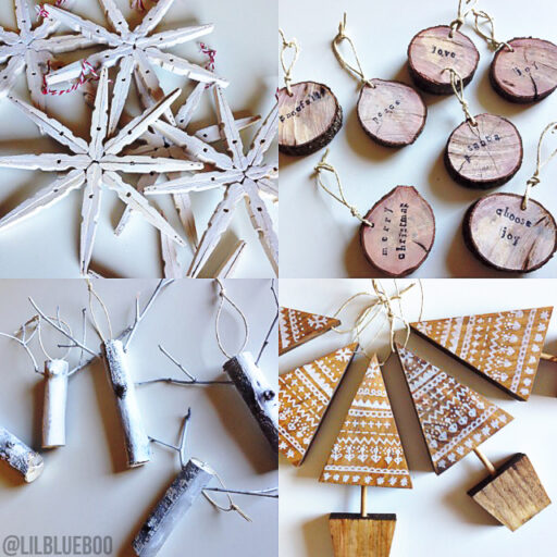 Clothespin ornaments rustic DIY