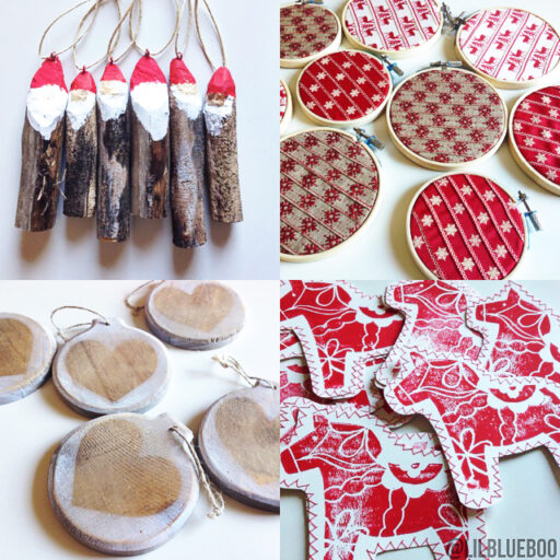 Handmade Rustic Christmas Ornaments DIY Tutorial