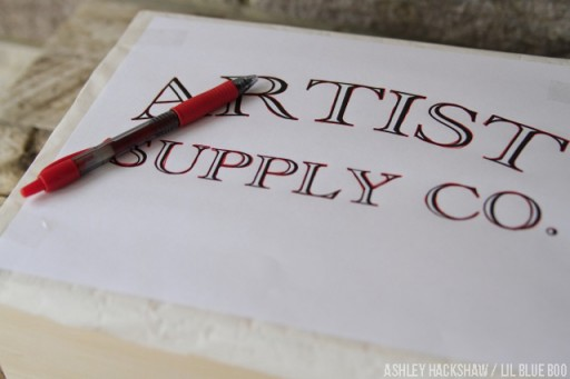 How to create perfect letters - transfer paper