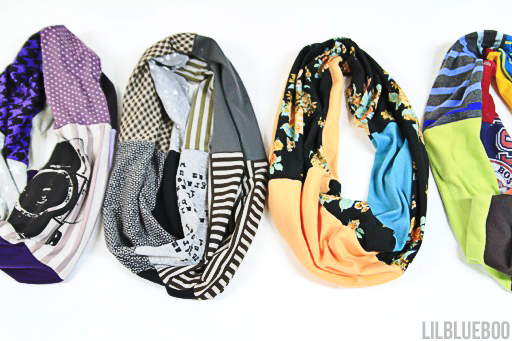 DIY Upcycled Infinity T-Shirt Scarf