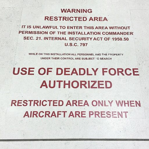 Restricted Area at Eglin AFB
