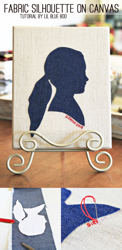 Recycled denim crafts - silhouette Michaels Makers