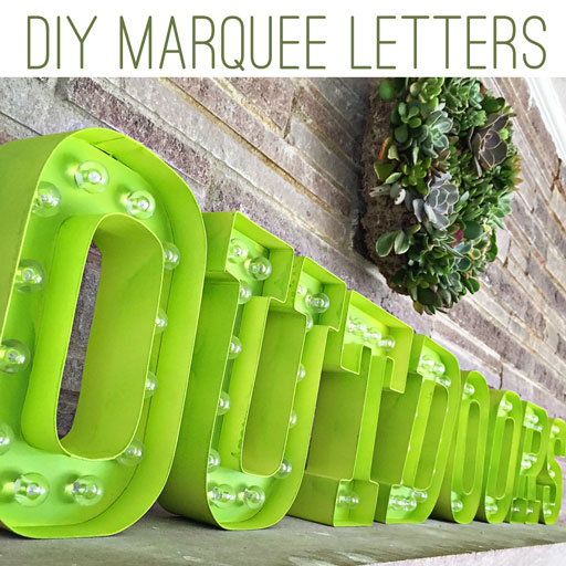 DIY Marquee letters by Heidi Swapp
