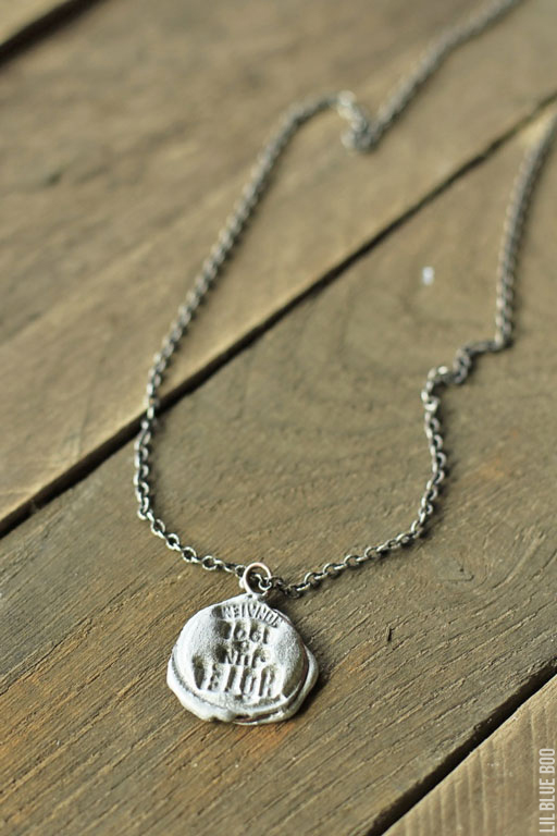 How to make stamped molten solder jewelry
