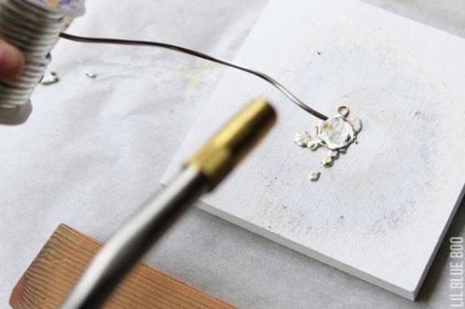 molten solder stamping
