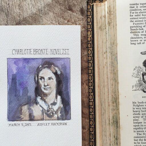 Charlotte Bronte Painting Portrait