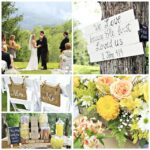 Yellow and Coral Country Wedding