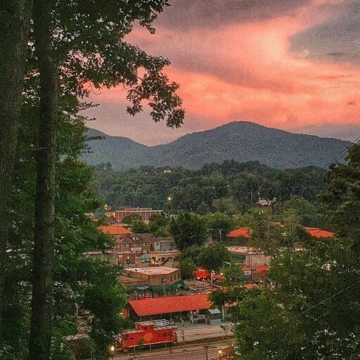 Sunset View of Bryson City, NC