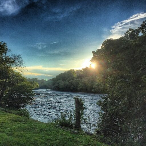 Sunset View of the Tuckasegee River near Nabers Drive In