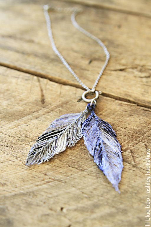 how to make feather jewelry