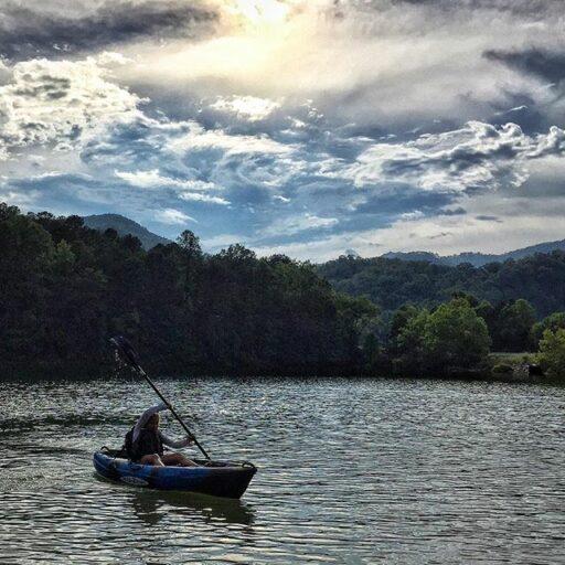 Fontana Lake Kayaking right outside of Bryson City