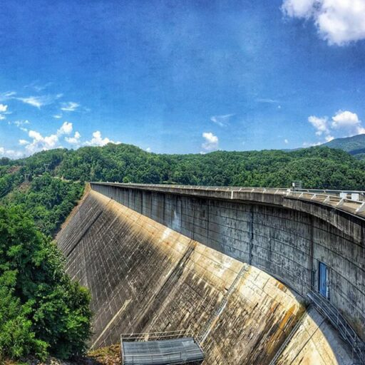 Fontana Dam in the Great Smoky Mountains