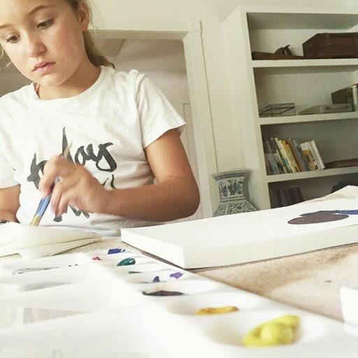 teaching kids watercolors tutorials
