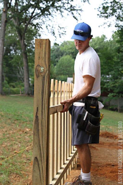 Building a fence using fence panels