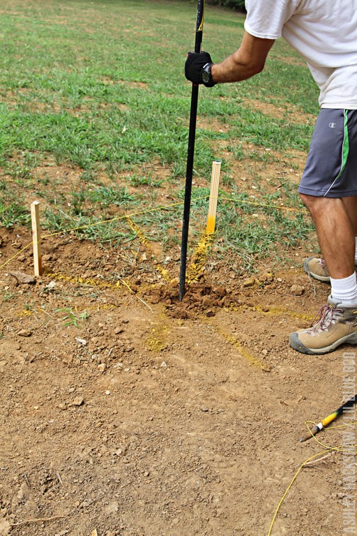 how to dig a post hole in rocky soil