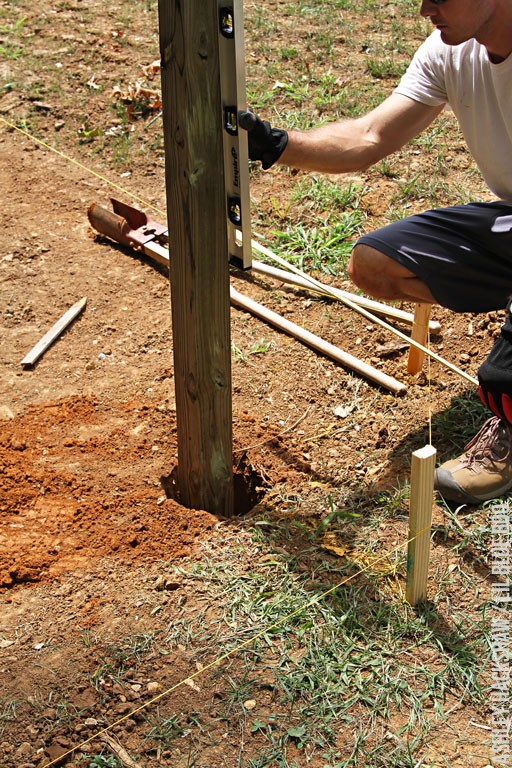 Lay Out and Dig a Post Hole