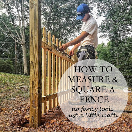 How To Measure And Square A Fence Layout