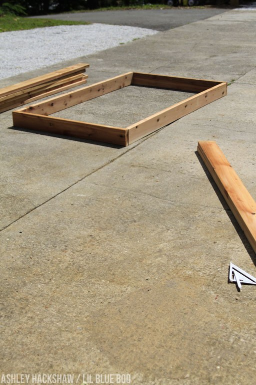 building DIY garden beds using chemical free wood