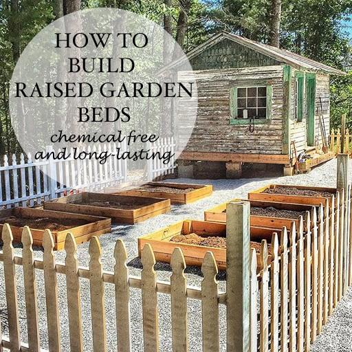 build a cedar raised garden