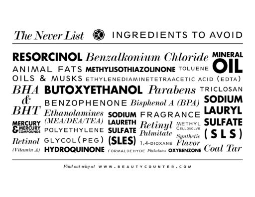 A NEVER LIST of ingredients to avoid in your skin care and alternatives