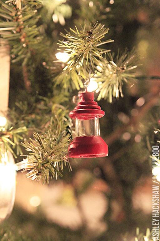 vintage diy lantern ornament