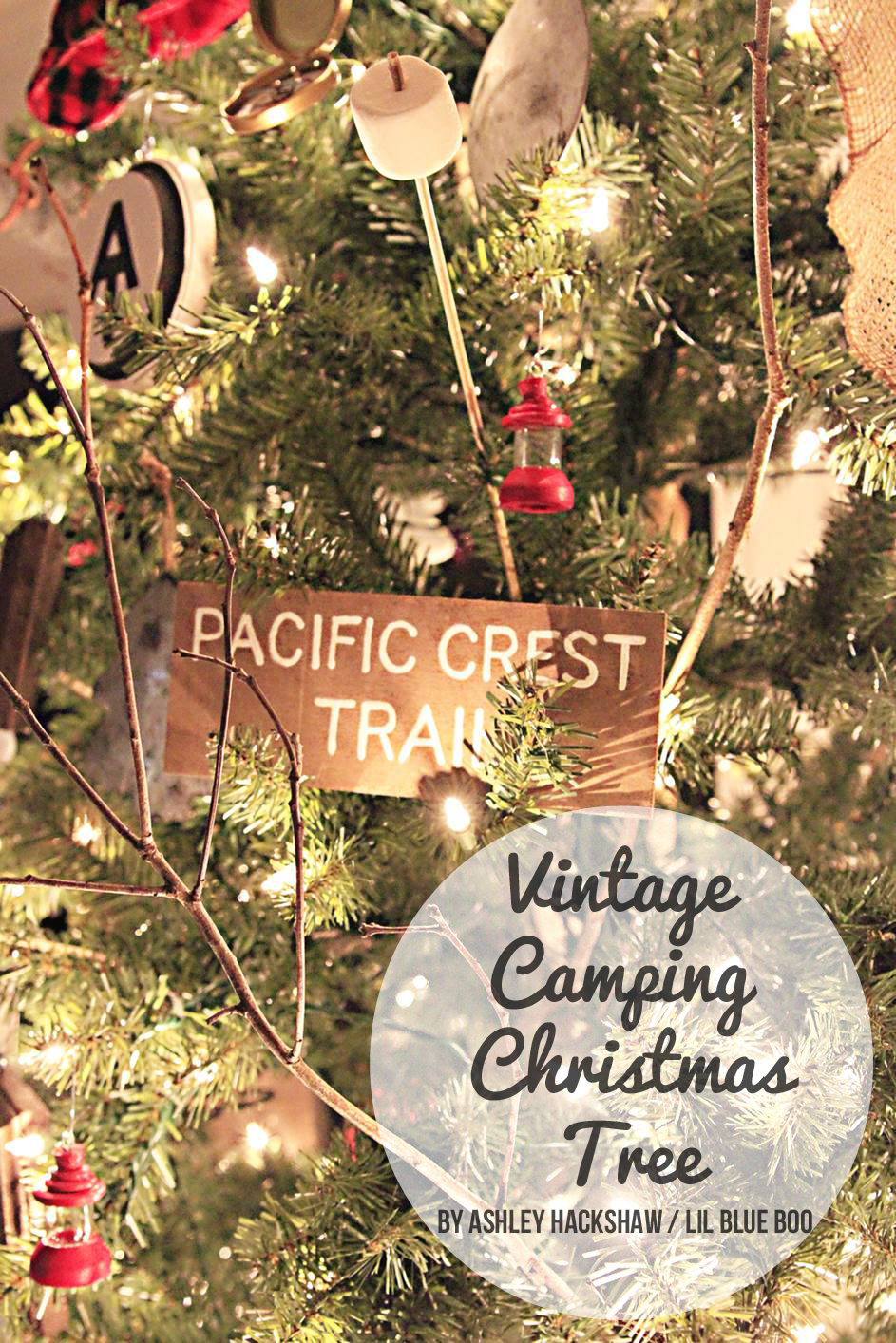 Camping christmas tree ornaments - Vintage Camping Theme Tree Michaels Makers Dream Tree Challenge 2015