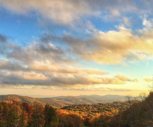 Fall Photography - Sunset in Linville Grandfather Mountain