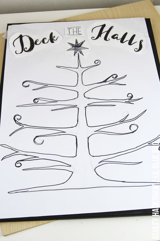 Free Chalkboard Template - Christmas Tree