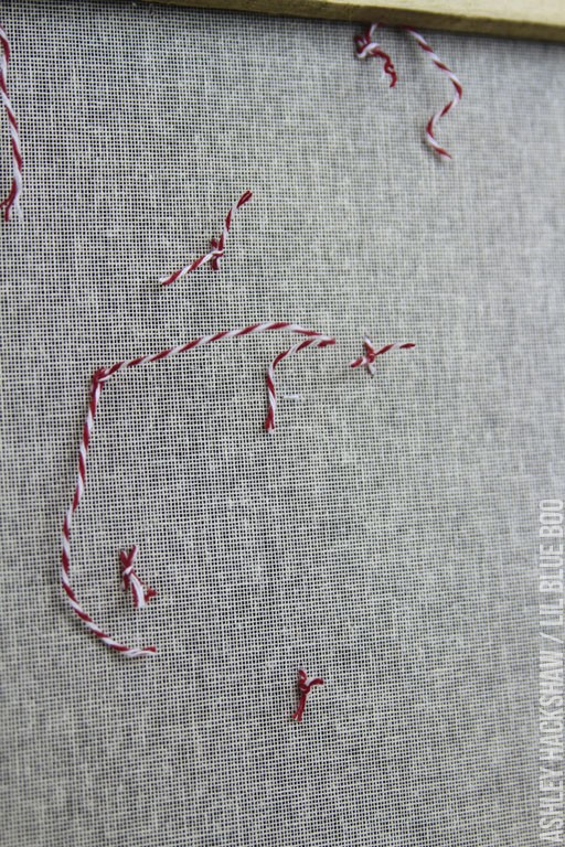 sewing on canvas