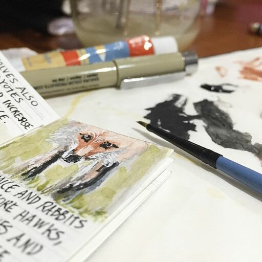 fox painting - tiny book show