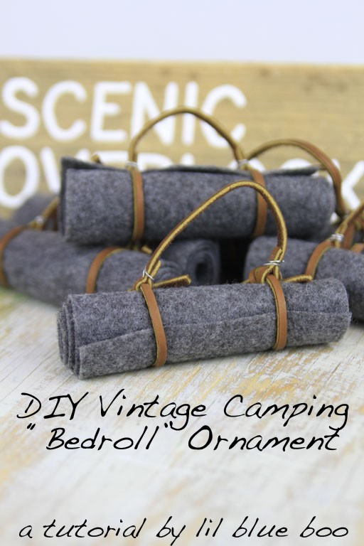 DIY Camping and Hiking Ornaments - Vintage Bedroll #diy #camping #lifeoutside #hiking #findyourpark