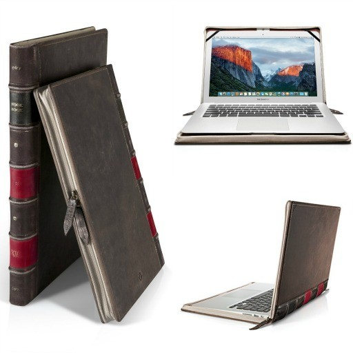 Laptop case that looks just like an old book - gift ideas for book lovers and writers