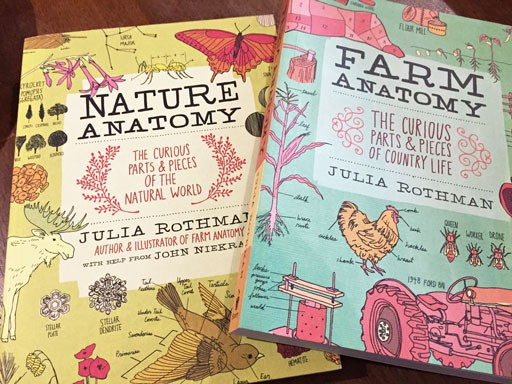 Gift Idea: Julia Rothman Books Nature Anatomy and Farm Anatomy