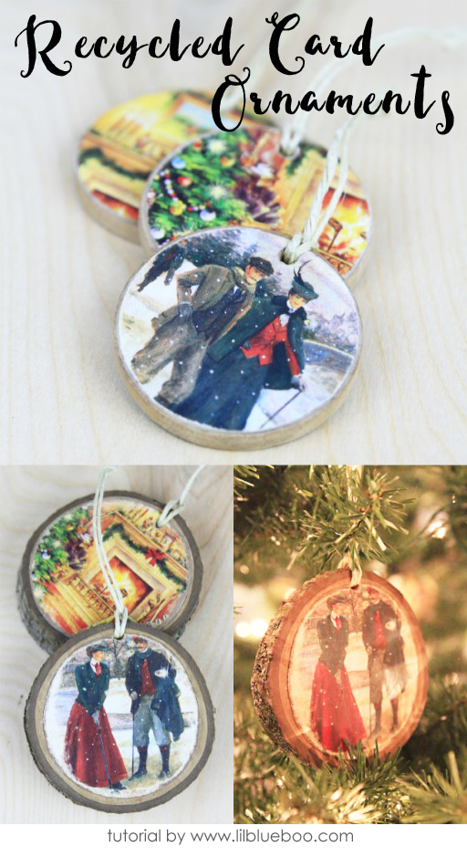 Recycled Christmas Card Ornaments  Ashley Hackshaw  Lil  ~ 142106_Recycled Christmas Decorations Ideas For Office