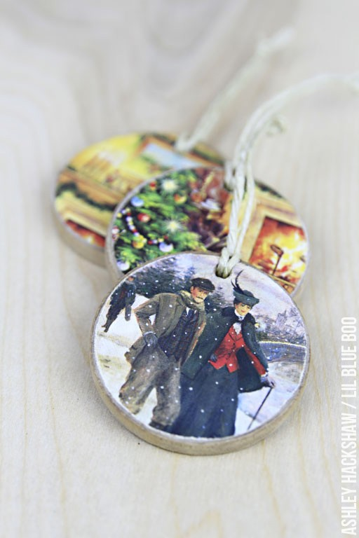 Recycle old Christmas cards into decorative gift tags that turn into lasting ornaments