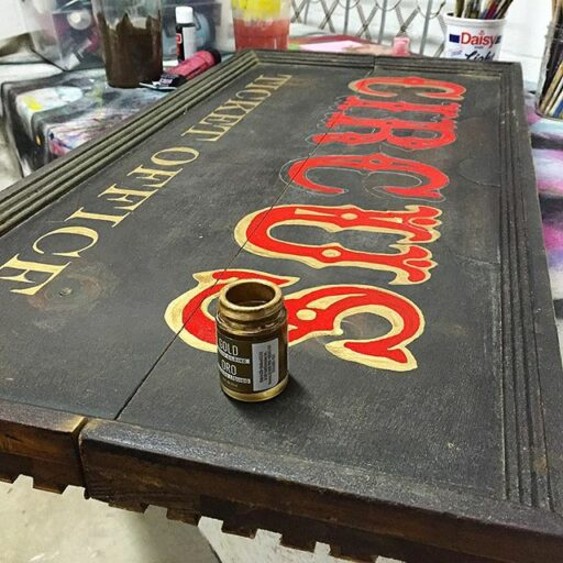 Vintage inspired circus sign DIY