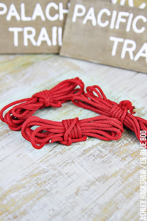 DIY Rock Climbing themed Rope ornaments