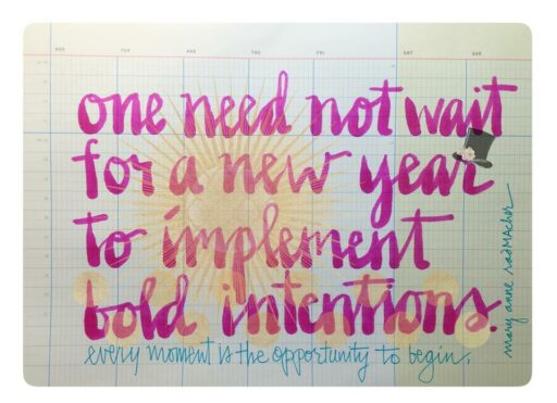 Mary Anne Radmacher quote - intention - New Year Resolutions