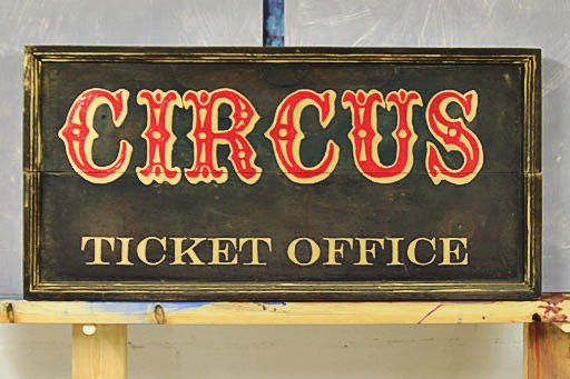 vintage circus sign template and how to hand paint DIY tutorial