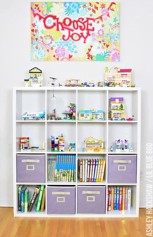 Lego Storage Ideas for Built Sets #michaelsmakers #diy kids room decor and organization