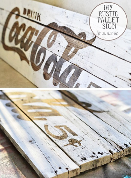 how to make a rustic weathered sign - pallet rustic projects