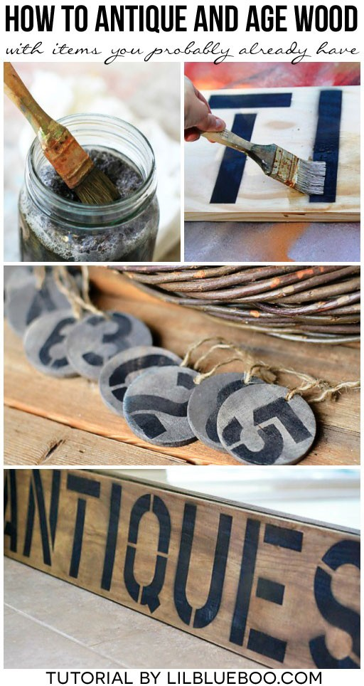 how to paint vintage look on wood - how to make a wooden sign look vintage