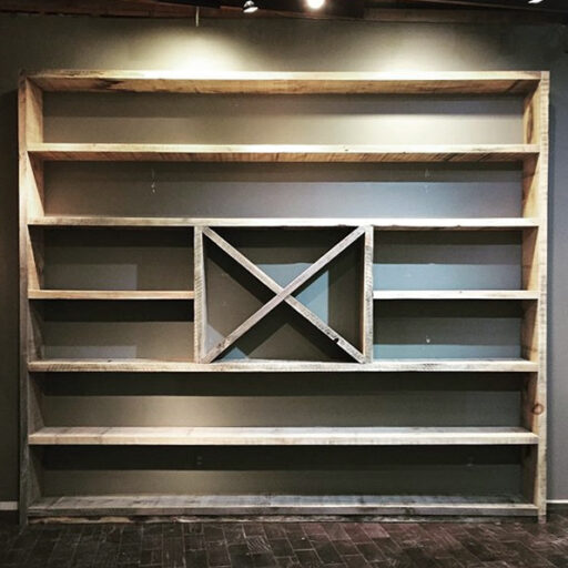 Barnwood Shelf Ideas - Closet organization or library book shelf ideas - Renovation After Picture