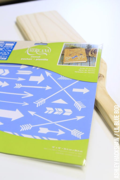 Americana DecoArt stencil project idea - How to draw perfect arrows